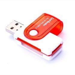 Czytnik USB 2.0 do kart pamięci 4w1 - All in One - Adapter SD Micro-SD SD MS M2