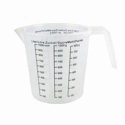 Kubek plastikowy z miarką 1000ml - miarka kuchenna 1l - dzbanek z uchem