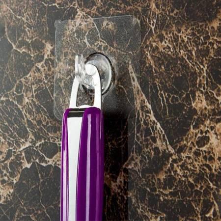 Haczyk - wieszak samoprzylepny - 6x6cm transparentny - uchwyt ścienny