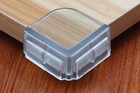 Narożnik ochronny silikonowy - kwadratowy - 4szt - zabezpieczenie krawędzi kantów