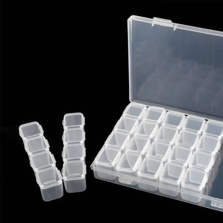 Organizer -Pudełko z przegródkami - 28 zamykanych pojemników