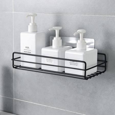 Półka łazienkowa do kabiny - czarna - Koszyk pod prysznic na żel szampon