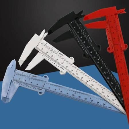 Suwmiarka plastikowa Mini 0-150 mm - biała - narzędzie do pomiaru